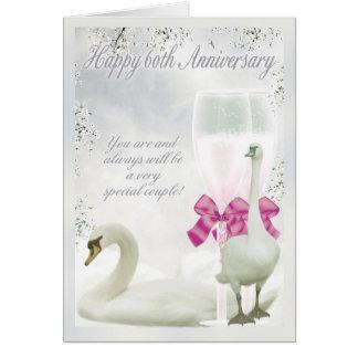 60th Anniversary - Diamond Anniversary Greeting Card