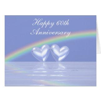 60th Anniversary Diamond Hearts Big Greeting Card