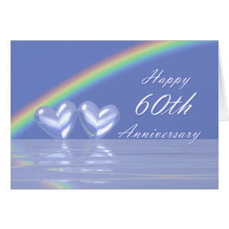 60th Anniversary Diamond Hearts Card