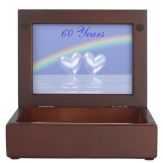 60th Anniversary Diamond Hearts Keepsake Box