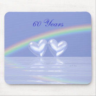 60th Anniversary Diamond Hearts Mouse Mat