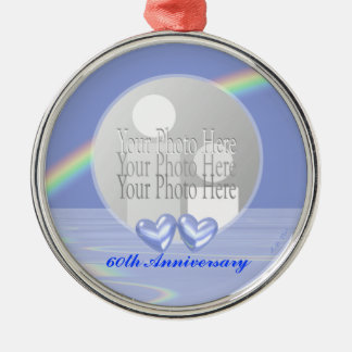 60th Anniversary Diamond Hearts (photo frame) Christmas Ornament
