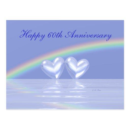 60th Anniversary Diamond Hearts Post Cards