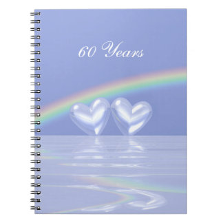 60th Anniversary Diamond Hearts Spiral Notebook