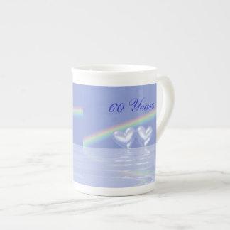 60th Anniversary Diamond Hearts Tea Cup
