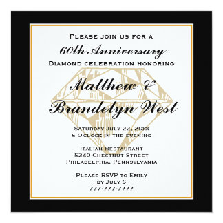 60th Anniversary Diamond Invitation