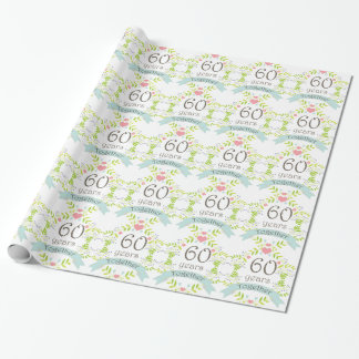 60th Anniversary Love Heart Gift Wrap