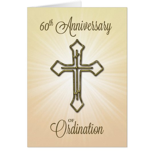 60th Anniversary of Ordination, Gold Cross Card