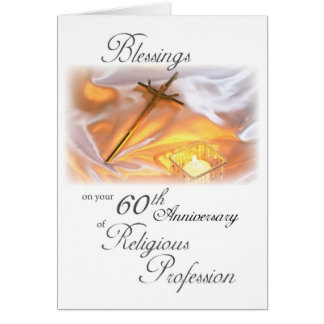 60th Anniversary of Religious Life, for a Nun Greeting Card