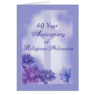 60th Anniversary of Religious Profession, Nun Card