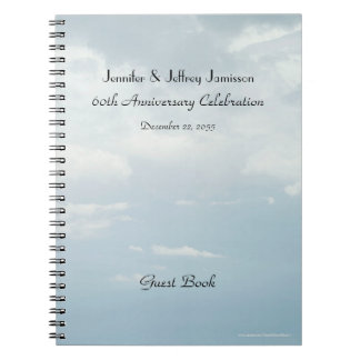 60th Anniversary Party Guest Book, Sky & Clouds Note Book