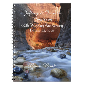 60th Anniversary Party Guest Book, Zion Narrows Note Books