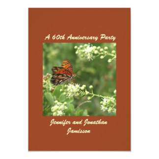 60th Anniversary Party Invitation Butterfly