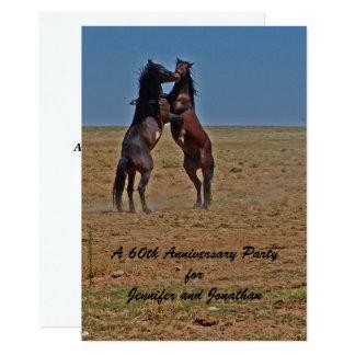 60th Anniversary Party Invitation Dancing Horses
