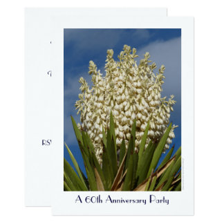 60th Anniversary Party Invitation Flowering Yucca