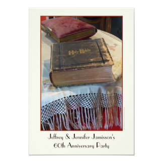 60th Anniversary Party Invitation Vintage Bible