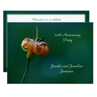 60th Anniversary Party Invitation Yellow Lily