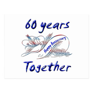 60th. Anniversary Postcard