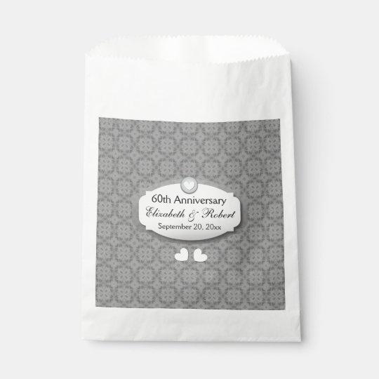60th Anniversary Wedding Anniversary Diamond A27 Favour Bags