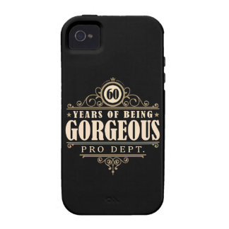 60th Birthday (60 Years Of Being Gorgeous) Case-Mate iPhone 4 Cases