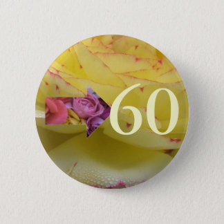 60th Birthday 6 Cm Round Badge