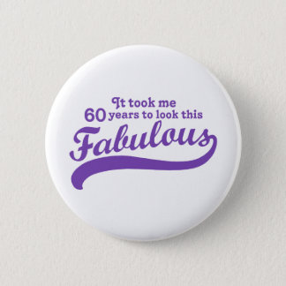 60th Birthday 6 Cm Round Badge