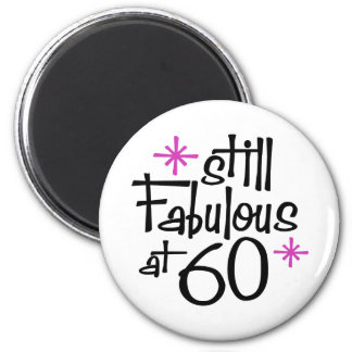 60th Birthday 6 Cm Round Magnet