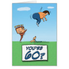 60th Birthday: A Kick in the Butt Card