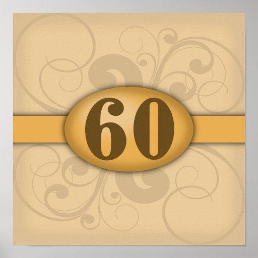 60th Birthday / Anniversary Party Print