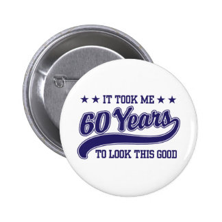 60th Birthday Pinback Buttons