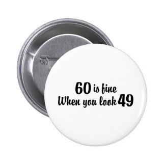 60th Birthday Buttons