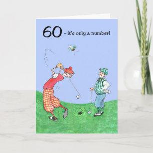 60th Birthday Card For A Golfer