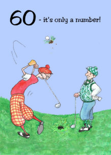 60th Birthday Card For A Golfer