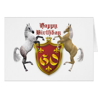 60th birthday card with a coat of arms