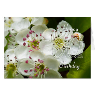60th Birthday Card With Flower - Floral 60th Birth