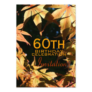 60th Birthday Celebration Autumn Custom Invitation
