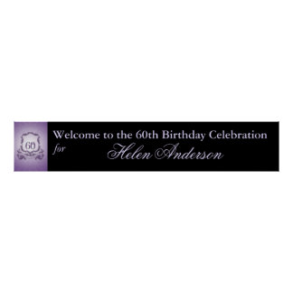 60th Birthday Celebration Custom Banner Poster