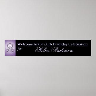 60th Birthday Celebration Custom Banner Poster