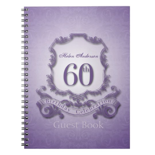 60th Birthday Celebration Custom Framed Guest Book
