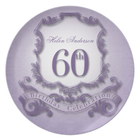 60th Birthday Celebration Personalised Plate
