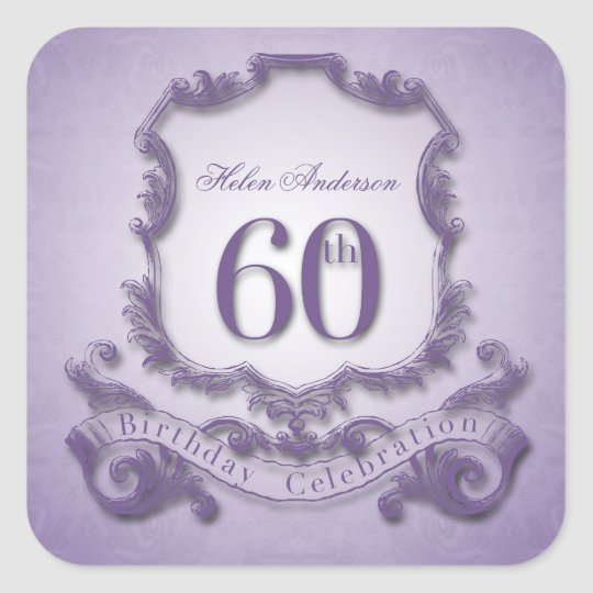 60th Birthday Celebration Personalised Stickers