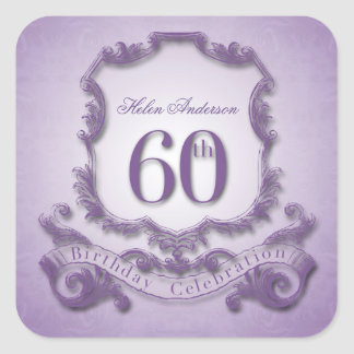 60th Birthday Celebration Personalized Stickers