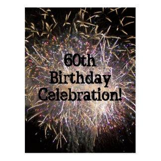 60th Birthday Celebration Postcard