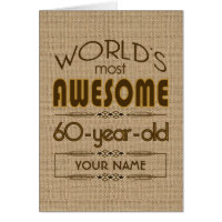 60th Birthday Celebration World Best Fabulous Card