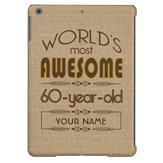 60th Birthday Celebration World Best Fabulous iPad Air Cover