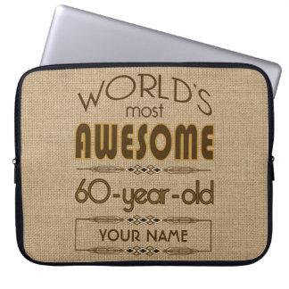 60th Birthday Celebration World Best Fabulous Computer Sleeve