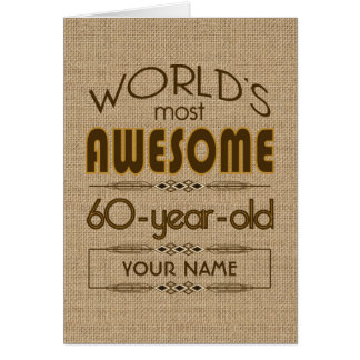 60th Birthday Celebration World Best Fabulous Greeting Card
