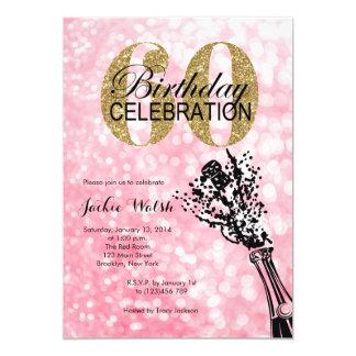 60th Birthday Champagne Party Invitation