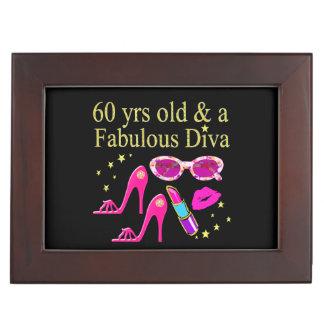 60TH BIRTHDAY DAZZLING DIVA DESIGN MEMORY BOXES