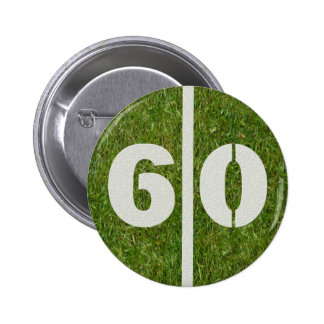 60th Birthday Football Yard Button